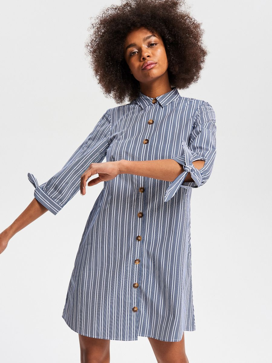 74654bb78541 Nakupujte online! Bavlnené košeľové šaty