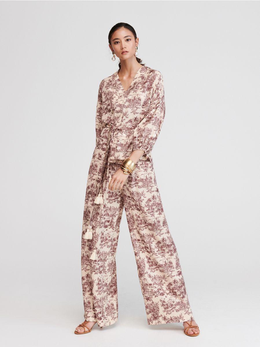 Mode schön in der Farbe auf Lager Jetzt shoppen! Palazzo-Hose mit originellem Muster , RESERVED, VW752-MLC
