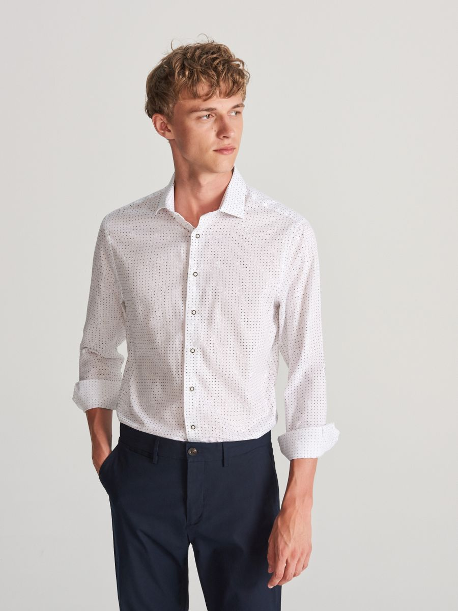 Buy online! Men`s shirt , RESERVED, VX744-00X