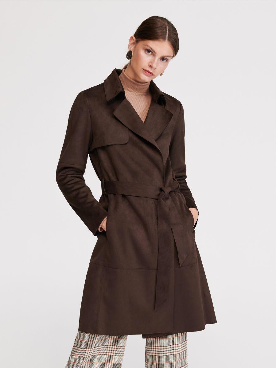 große Auswahl zarte Farben beste Seite Jetzt shoppen! Mantel aus Wildlederimitat, RESERVED, VY027-89X