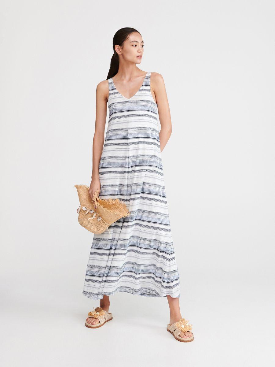 ac2eed1dc Dlouhé úpletové šaty - vícebarevná - VZ982-MLC - RESERVED - 1