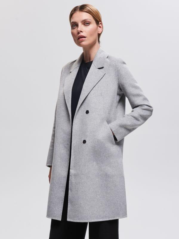c6d0bbbd Джинсовая куртка · Пальто из материала с добавлением шерсти - Cерый -  UO936-09M - RESERVED