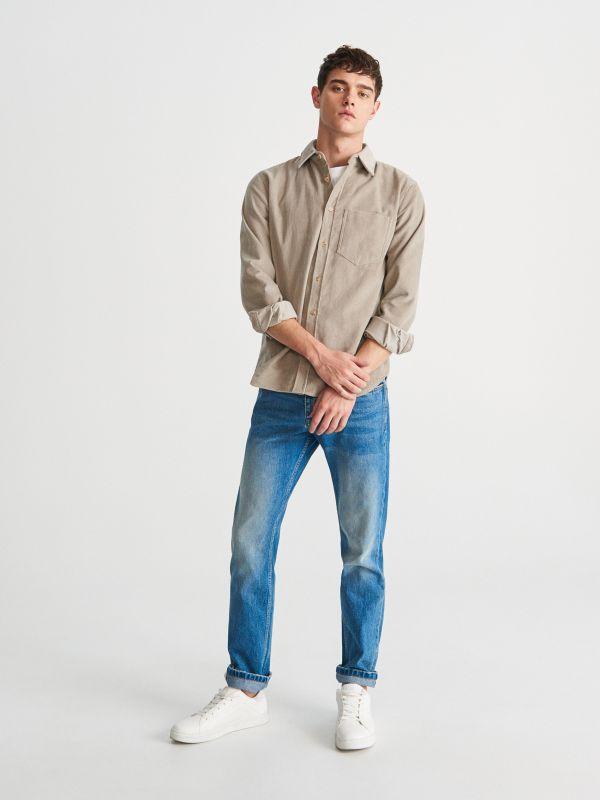 a76f631ad Spodnie jenasowe regular · Spodnie jenasowe regular - niebieski - UP094-57J  - RESERVED