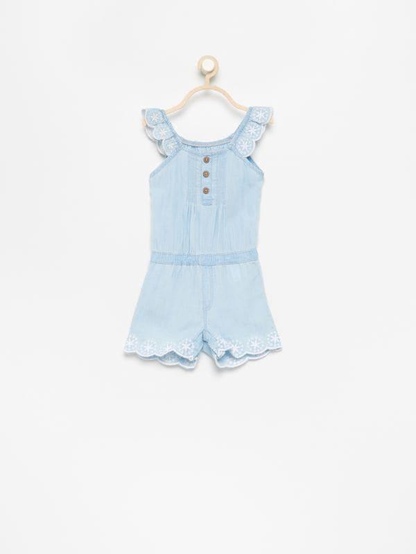 a69b7e40cb88 Čipkované šaty s krátkymi rukávmi · Overal z lyocellu - modrá - VP389-05J -  RESERVED