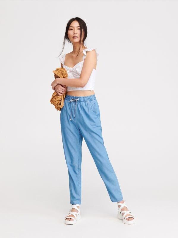 f0d616be83 Denimowe kuloty · Spodnie joggersy - niebieski - VV060-50J - RESERVED
