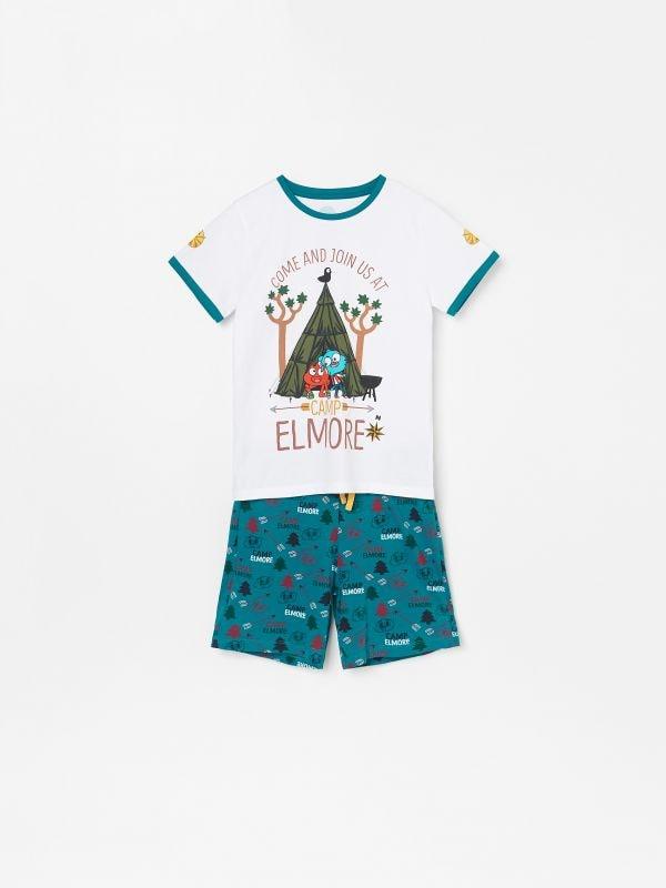 521a6044efc4f8 Piżama ze spodniami · Piżama z szortami Niesamowity świat Gumballa - biały  - WF472-00X - RESERVED