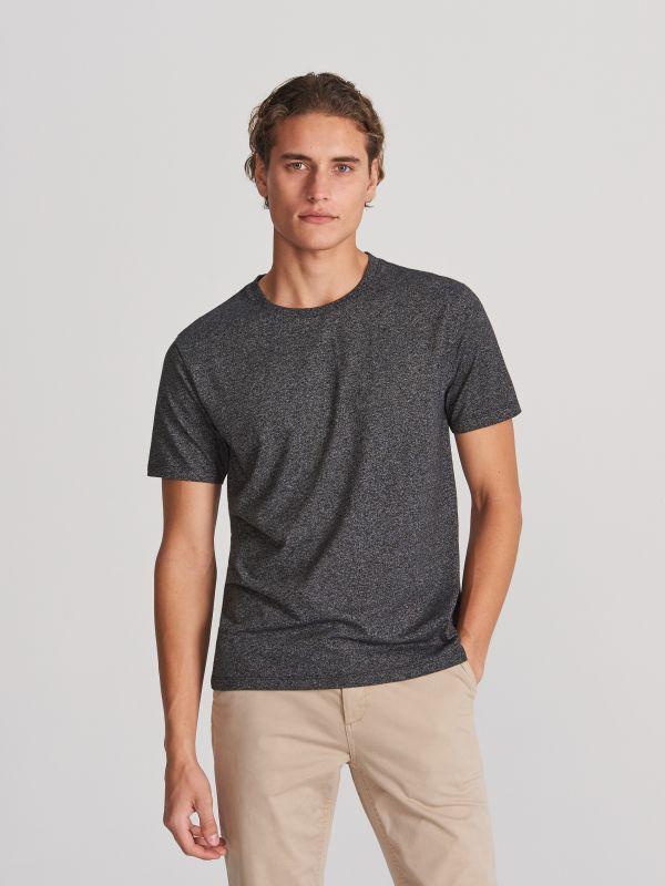 6af494b90a7e52 T-shirt z nadrukiem · T-shirt basic - szary - WG064-90M - RESERVED