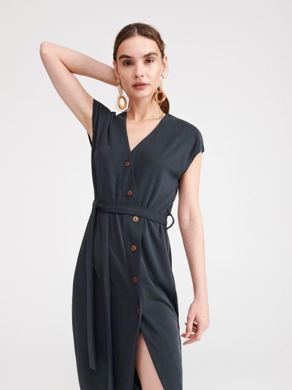 6ab309923e Jersey ruha · Modáltartalmú, egyszínű ruha - szürke - WP882-90X - RESERVED