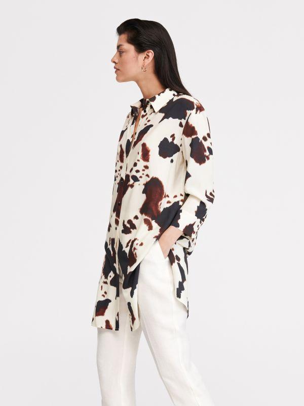 758381c10f Koszula z drobnym nadrukiem · Koszula z motywem zwierzęcym - wielobarwny -  XH603-MLC - RESERVED
